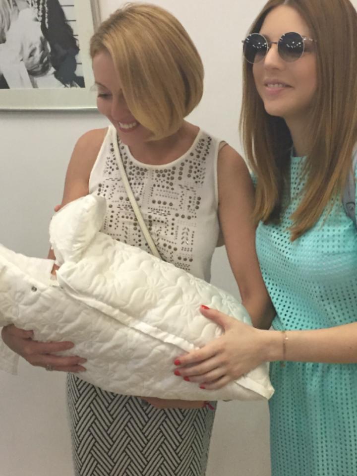 Анжлика Варум и Наталья Подольская с новорожденным