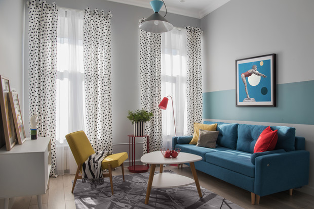 Color blocking: квартира 46 м² под сдачу (фото 3)