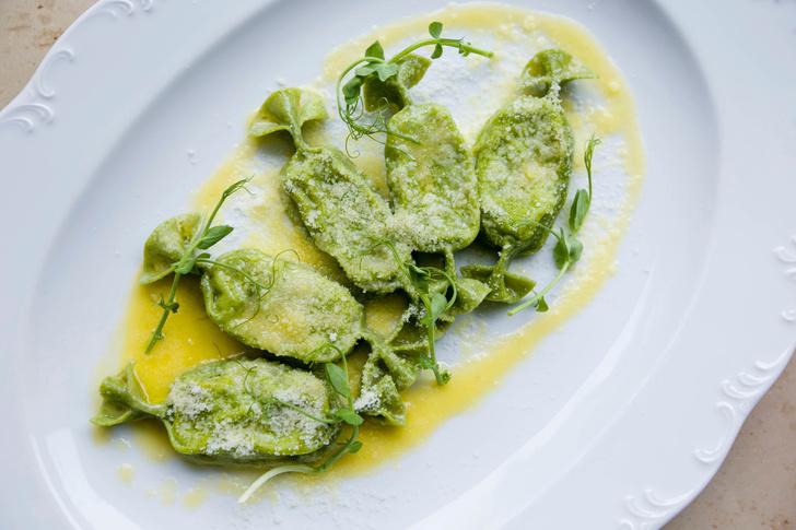 Карамелле верде с рикоттой и шпинатом
