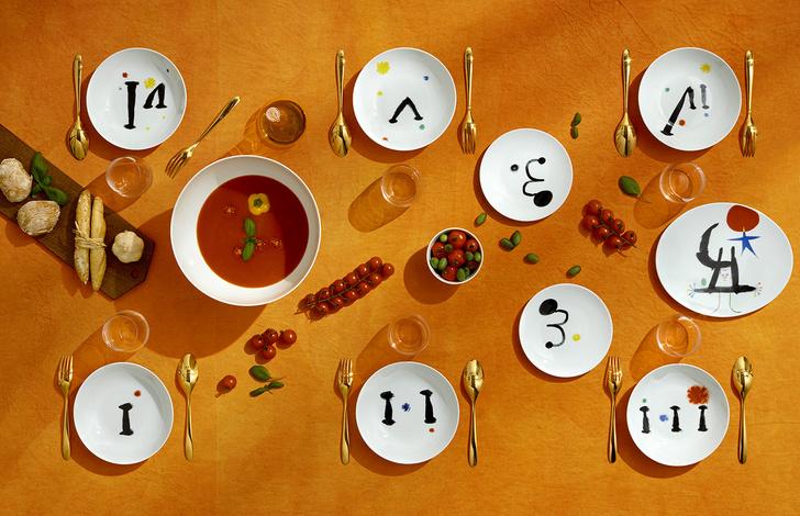 Коллекция посуды Bernardaud с рисунками Жоана Миро (фото 6)