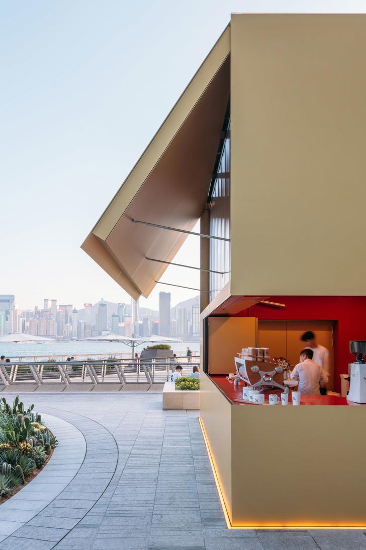 Павильон-куб от OMA перед торговым центром в Гонконге (фото 4)