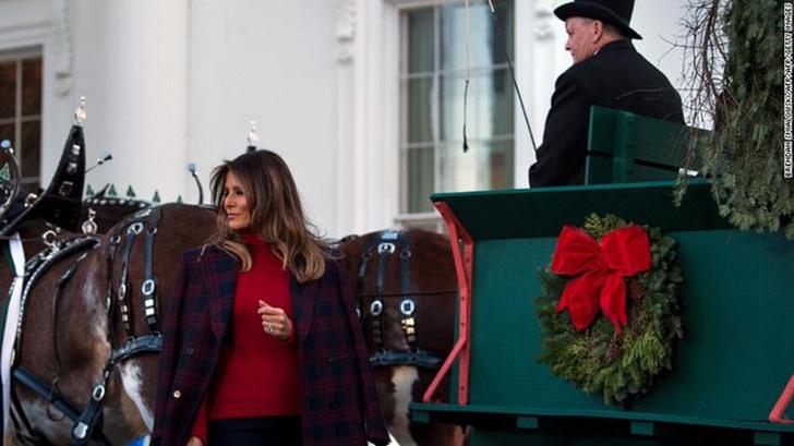 Мелания Трамп украсила Белый Дом к Рождеству фото [12]