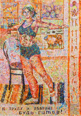 Олег Кулик в галерее ГУМ-Red-line (фото 4.2)