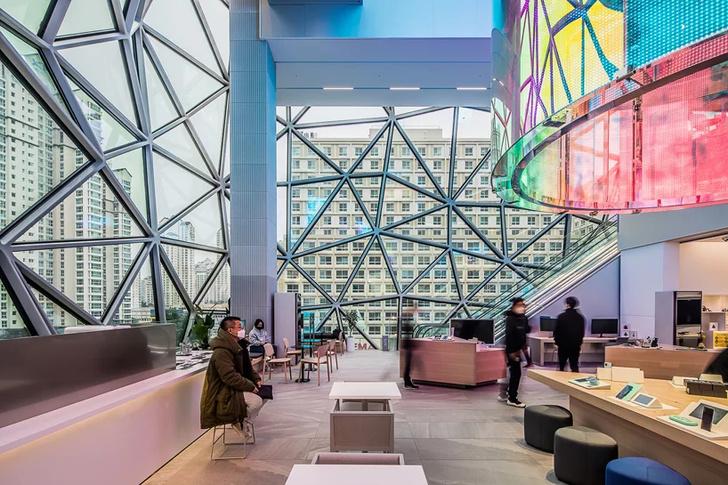 Новый торговый центр по проекту ОМА в Южной Корее (фото 7)