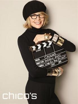 Диана Китон в модной кампании марки Chico's