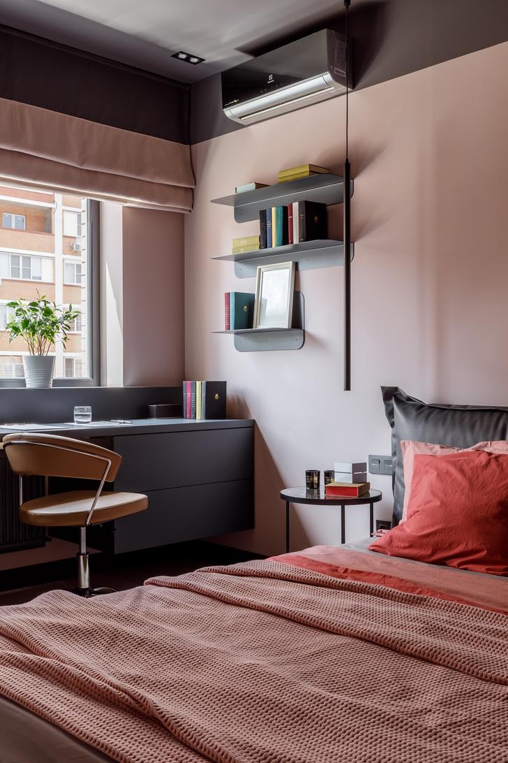 Современная интерпретация стиля «мидсенчури» для двухкомнатной квартиры в Краснодаре (фото 9)