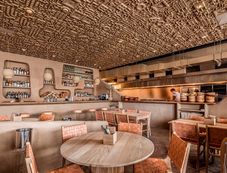 Ресторан с необычным потолком в Мексике (фото 2)