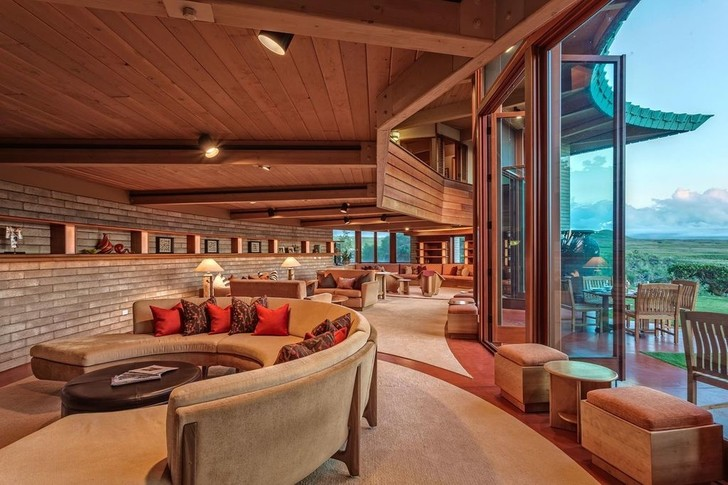 Дом по проекту Фрэнка Ллойда Райта на Гавайях (фото 6)