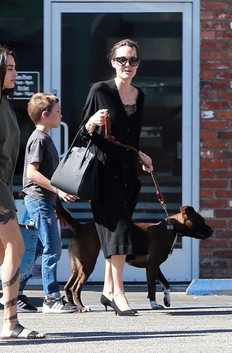 Новый выход Анджелины Джоли с сыном Ноксом фото [2]
