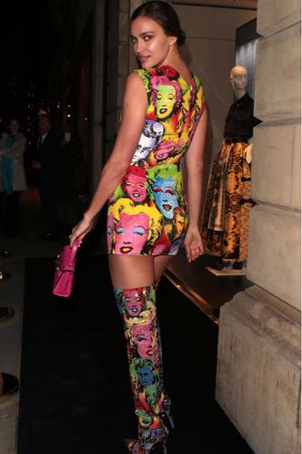 Pop-art: образ Ирины Шейк на открытии бутика Versace (фото 2)
