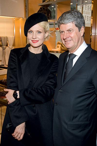 Рената Литвинова и Ив Карселль, президент Louis Vuitton