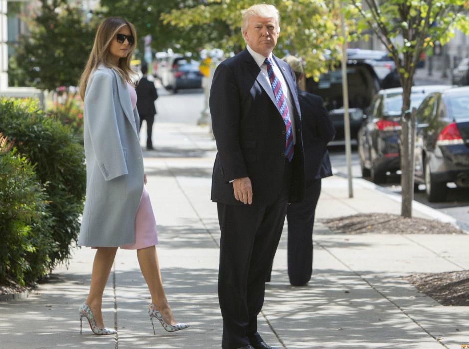 Мелания Трамп в платье Roland Mouret фото