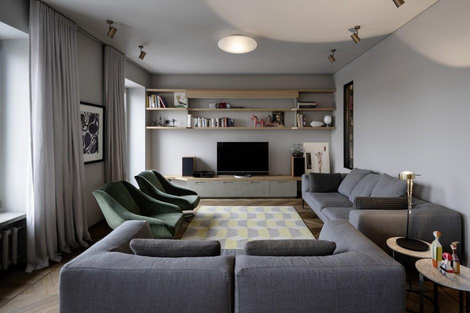 Большие диваны в гостиной (галерея 0, фото 4)