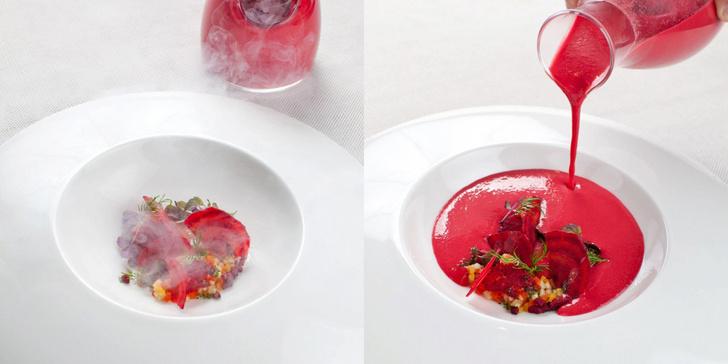 Ресторан Adrian Quetglas Michelin еда