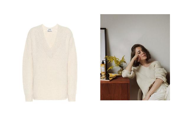 Самые сливки: кремовые свитеры для уютной зимы (фото 6)