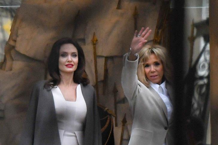 Анджелина Джоли встретилась с Бриджит Макрон (фото 3)