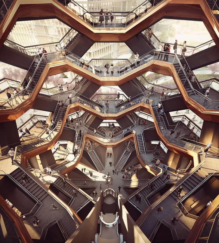 В Нью-Йорке открылась «эшеровская» башня Томаса Хизервика (фото 3)