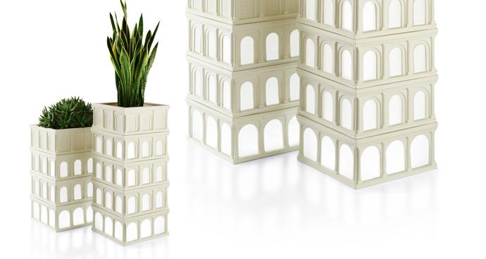 Горшок для цветов Milano, Le Porcellane, дизайн Самуэле Мацца