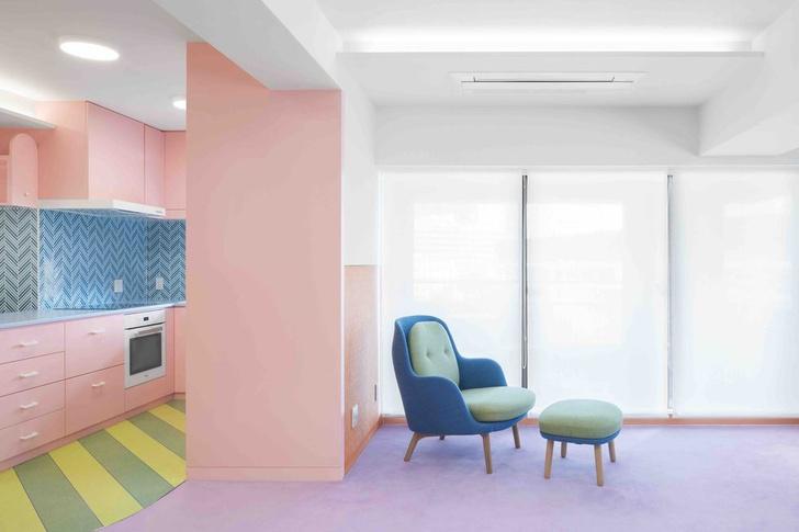 Все цвета радуги: квартира 160 м² в Токио (фото 3)
