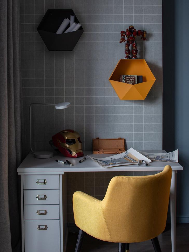 Квартира в серо-голубой гамме (фото 6)