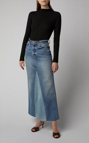 Всего одна юбку на весну — джинсовая миди, как носили наши мамы (фото 6.2)