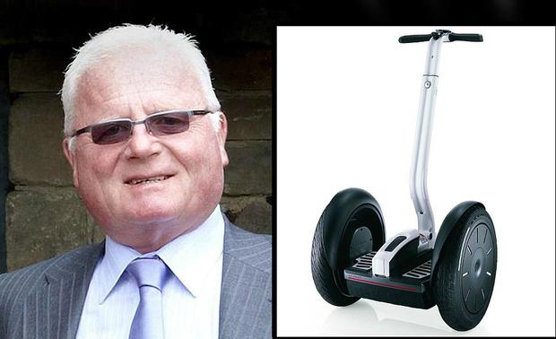 4. Владелец компании Segway разбился, катаясь на своем скутере Segway