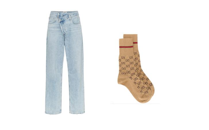 Джинсы + высокие носки: тренд для непогоды (фото 3)