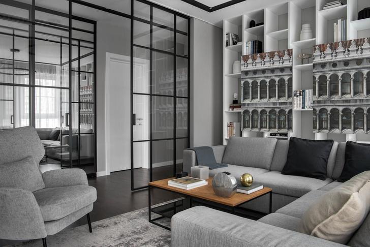 Все оттенки серого: минималистичная квартира 91 м² (фото 0)