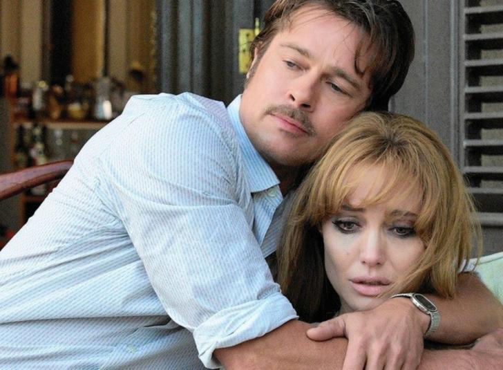 Брэд Питт и Анджелина Джоли в фильме «Лазурный берег»