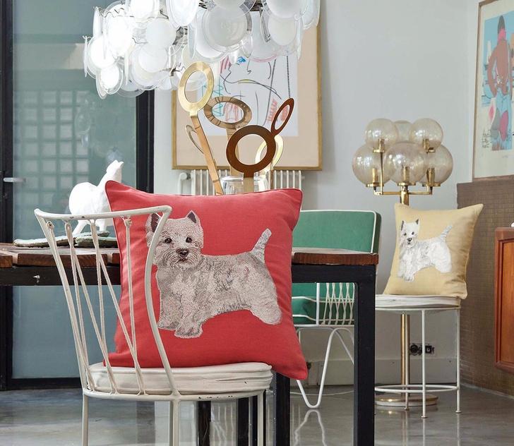 Декоративные подушки с вышивкой, Iosis, www.yvesdelorme.com, магазины Yves Delorme