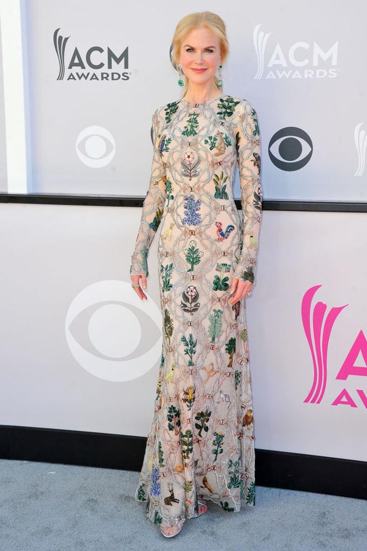 Николь Кидман в Alexander McQueen на церемонии вручения наград ACM Awards