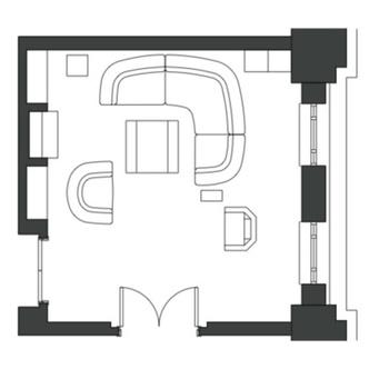 Готовый проект: гостиная 20 м² для любителя искусства (фото 6)