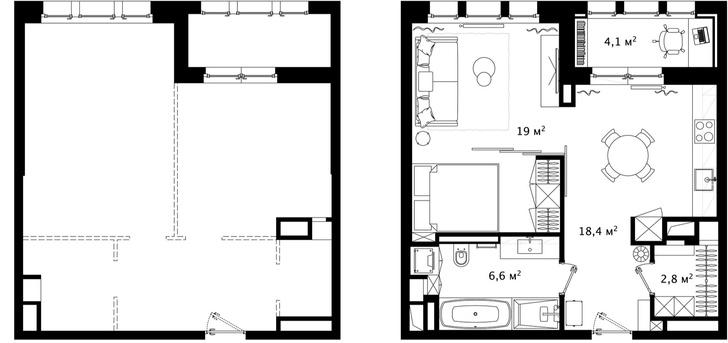 Первый план: все, что нужно знать о планировке маленьких квартир (фото 26)