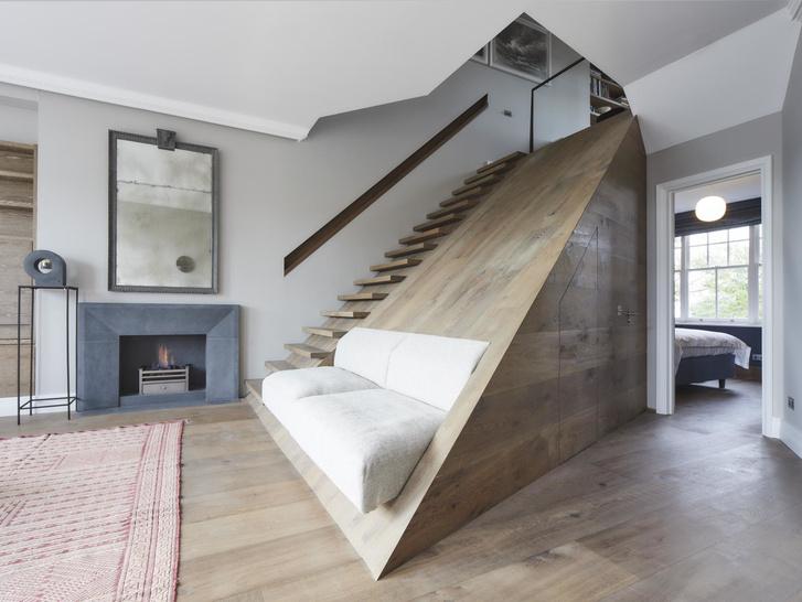 Лондонская квартира с деревянной лестницей от Deca Architecture (фото 2)