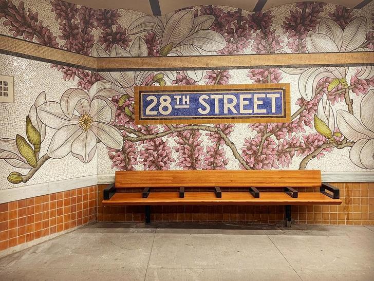 Нэнси Блум украсила мозаикой нью-йоркскую подземку (фото 0)