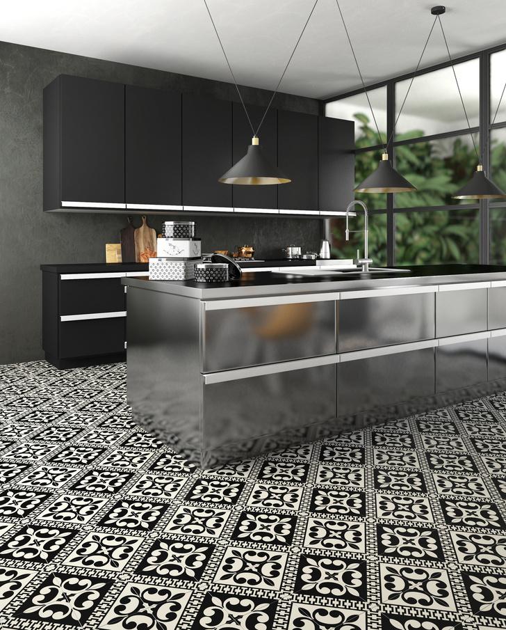Керамическая плитка на кухне. Модные решения (фото 15)