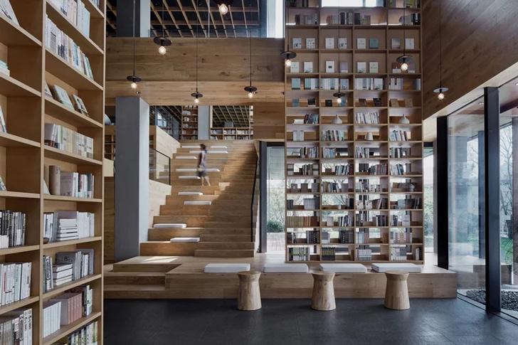 Деревянная библиотека в Ханчжоу (фото 3)