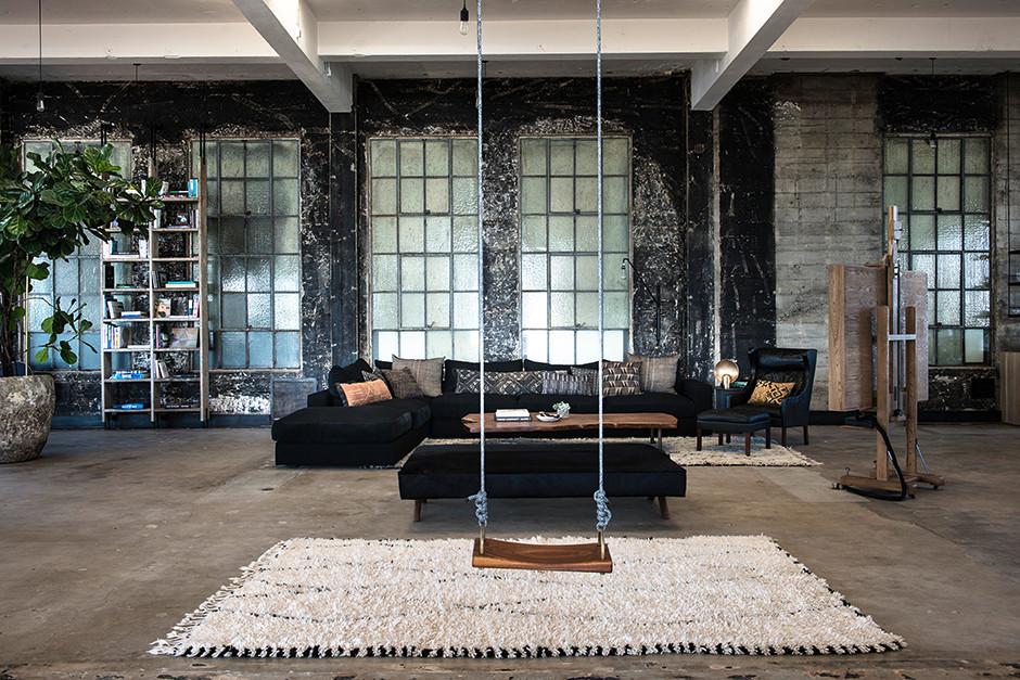 10 интерьеров в индустриальном стиле (галерея 0, фото 5)