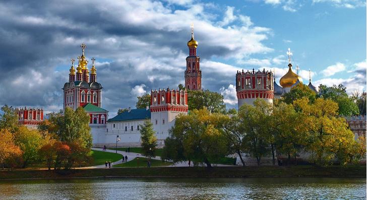 Парк Новодевичьего монастыря, Москва, Россия