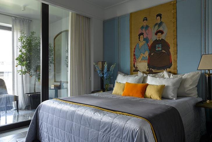 Жемчужно-голубая квартира для семьи из трех поколений фото [5]