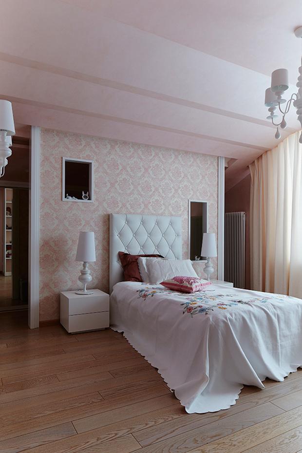Дом 270 м2 в Саратове в стиле глэм-шик фото [15]