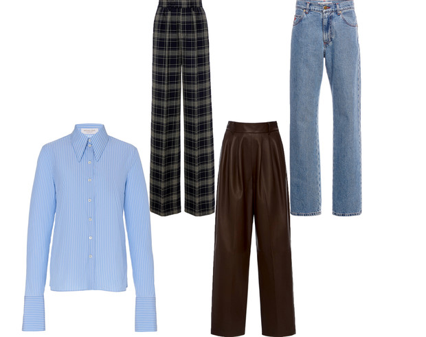 Практикум ELLE: голубая рубашка + брюки (фото 7)