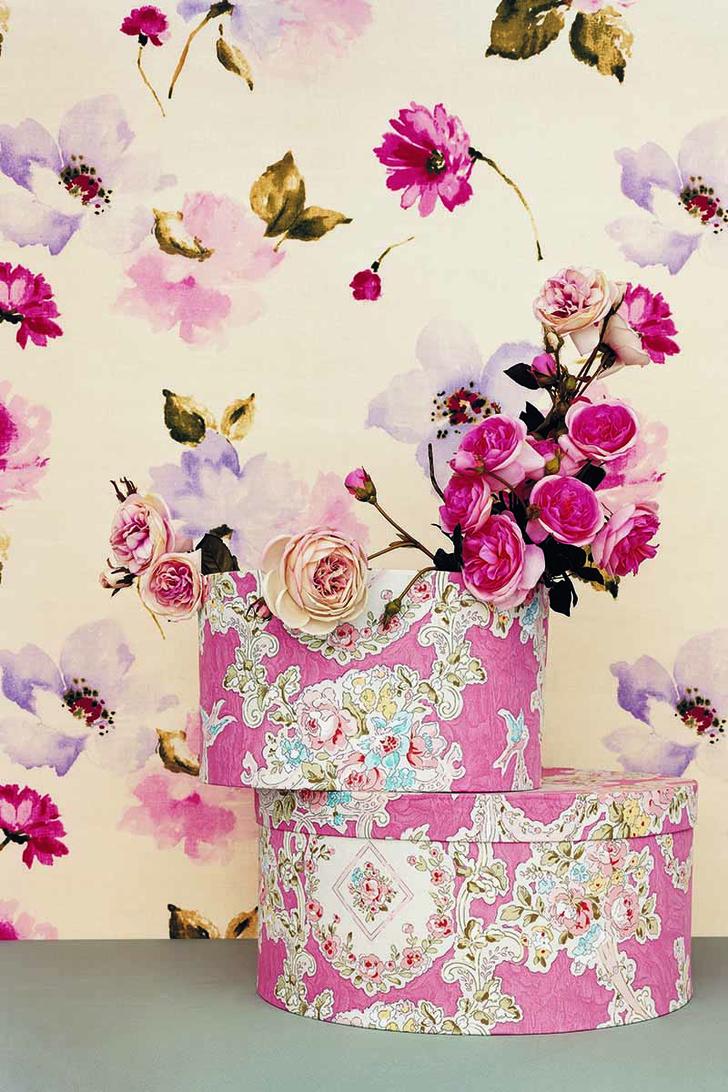 Льняная ткань обои с цветочным рисунком ткани с цветочным рисунком