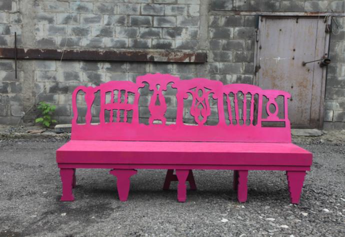 Розовая лавка Lollipop от Estrorama