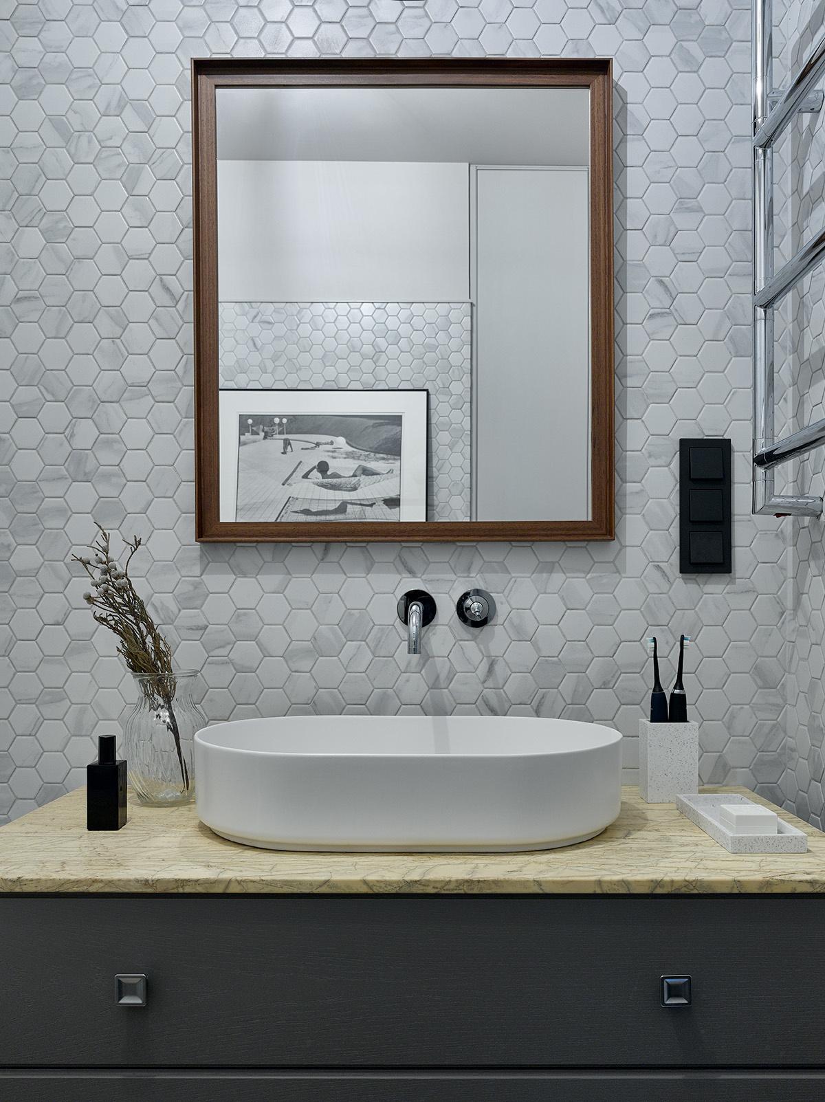 Серый цвет в ванной комнате: 20+ примеров и решений (галерея 1, фото 3)