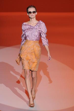Показ Carolina Herrera коллекции сезона Весна-лето 2010 года Prêt-à-porter - www.elle.ru - Подиум - фото 108483