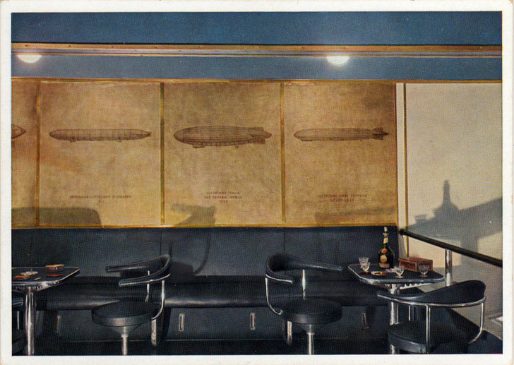 Интерьеры дирижабля «Гинденбург» (фото 17)