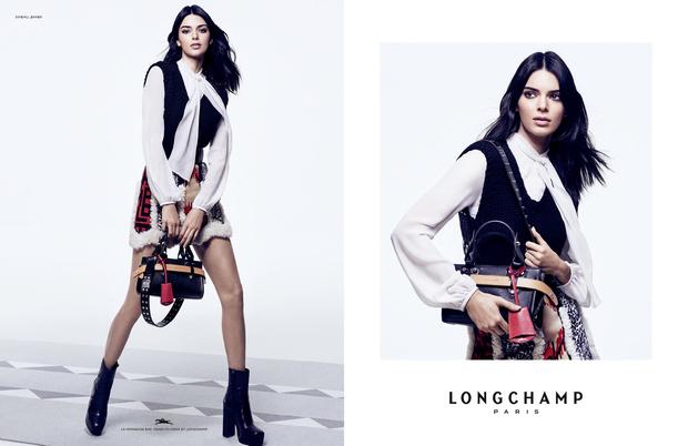 Кендалл Дженнер с главной сумкой сезона в новой рекламной кампании Longchamp (фото 5)