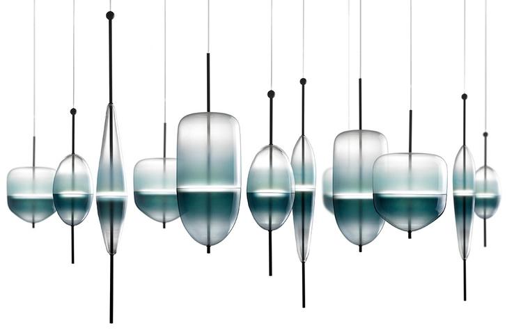 Cветильник Flow(t), дизайн Нао Тамуры, Wonderglass, www.wonder-glass.com