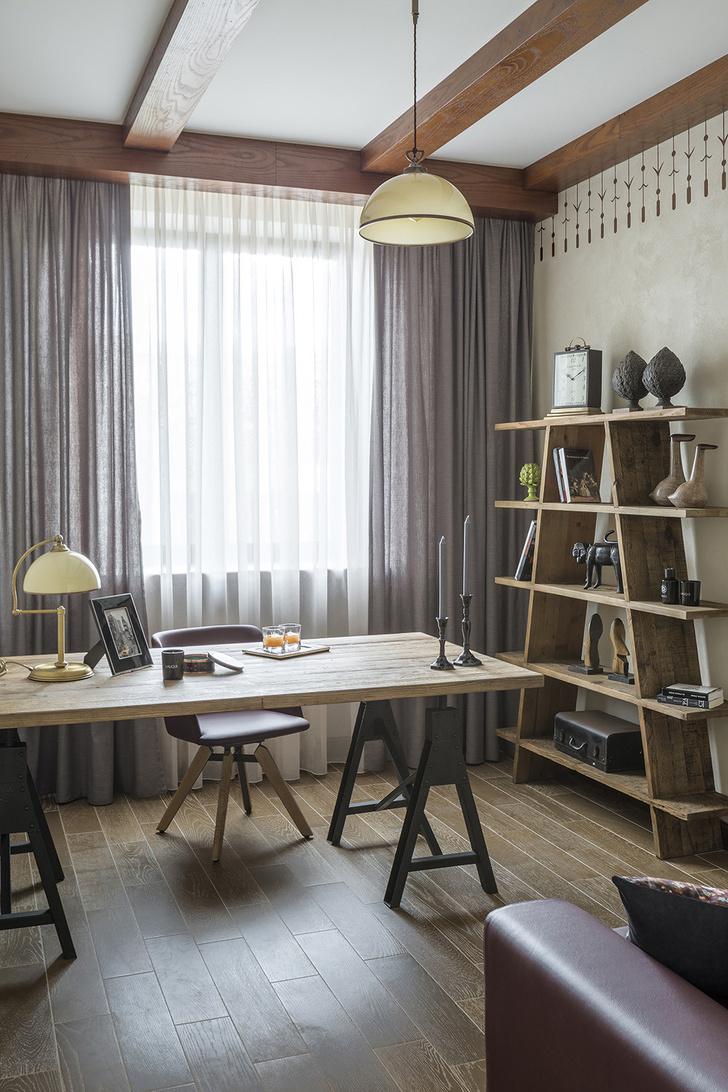 Дом в Подмосковье: интерьер с яркими акцентами фото [47]